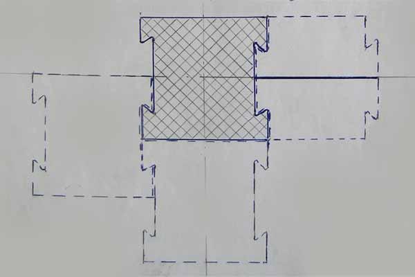 Схема монтажа резинового коврика