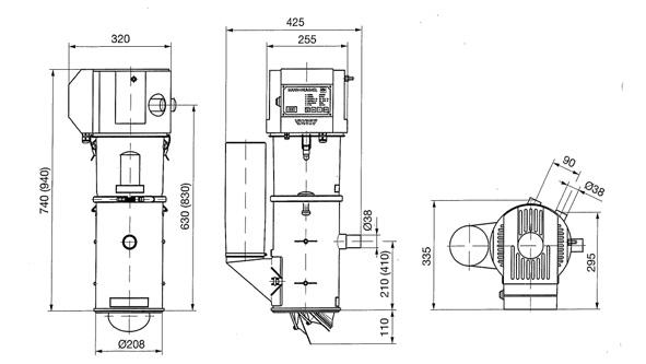 SOMOS ® Автозагрузчик FG 226._/2, габаритные размеры