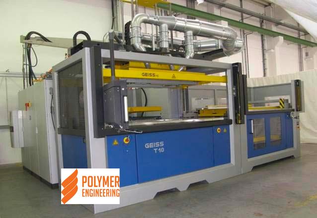 Вакуумформовочна машина GEISS T10, наиболее пользуется спросом и применяется для высокоэффективного производства крупногабаритных полимерных и композитных изделий в авто-, вагоно- и самолетостроени