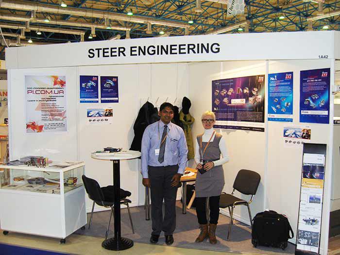 Стенд STEER ENGINEERING Pvt. Ltd (Индия) и ООО Полимер-инжиниринг (Украина)