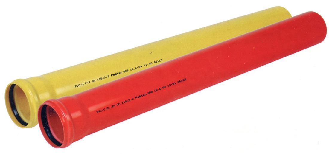PVC трубы для защиты кабелей
